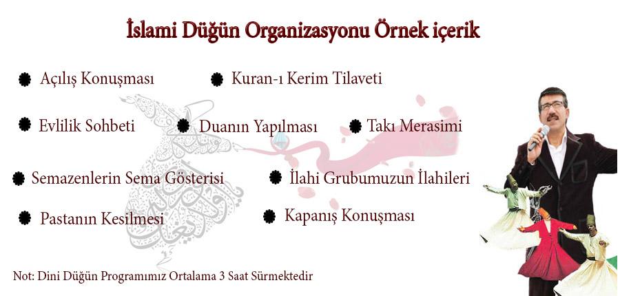 islami düğün organizasyon içeriği