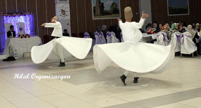 islami düğünlerde semazen grubu