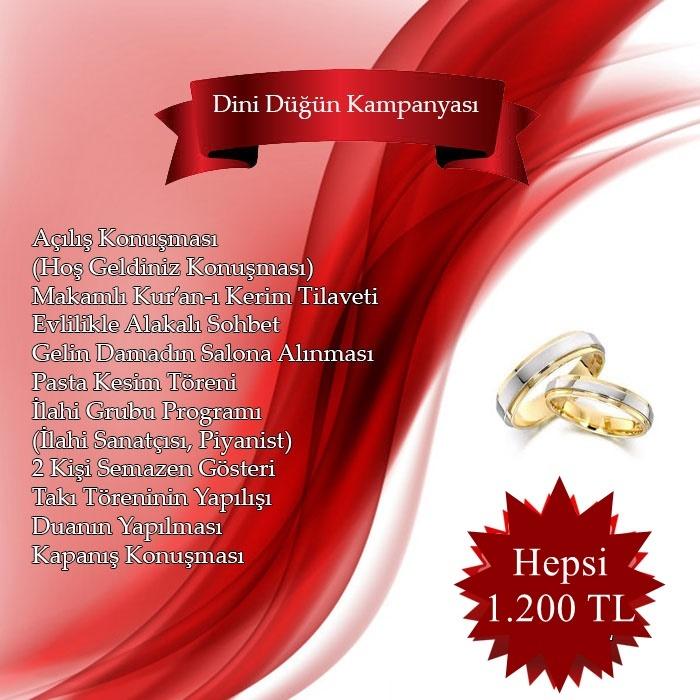 dini düğün organizasyon kampanyası